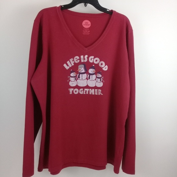 Life Is Good Other - LIFE IS GOOD Men's Size XXL Lounge L/S Red T-Shirt